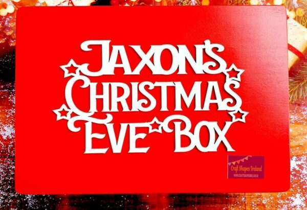 Christmas eve box Red, Stars & Reindeer - Choice of sizes