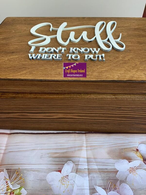 """""""Stuff"""" Stained wooden Box"""