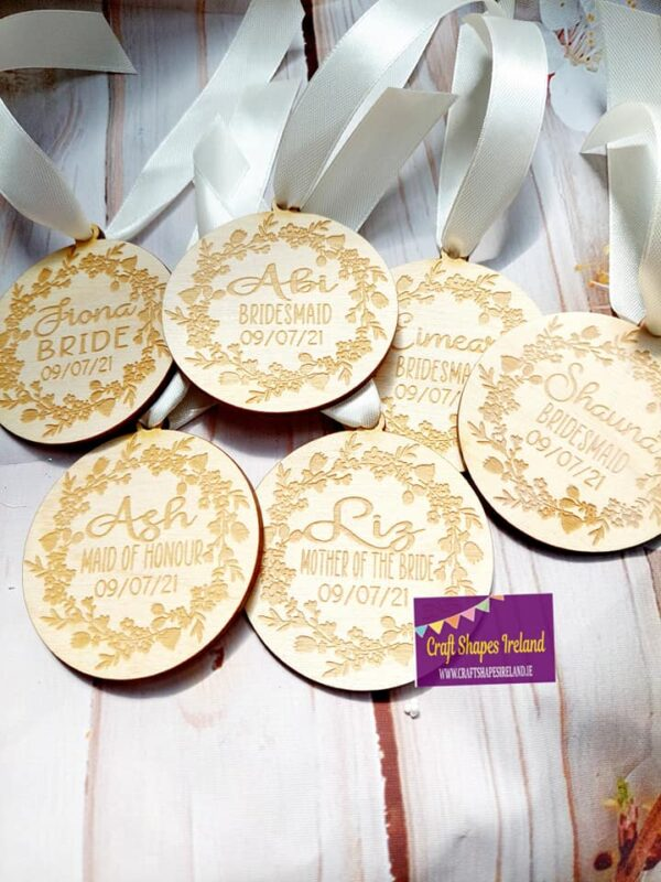 Personalised Dress Hanger Tags - Wreath