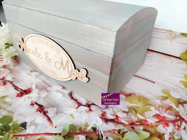 Graystain Domed-Lid Wedding Chest