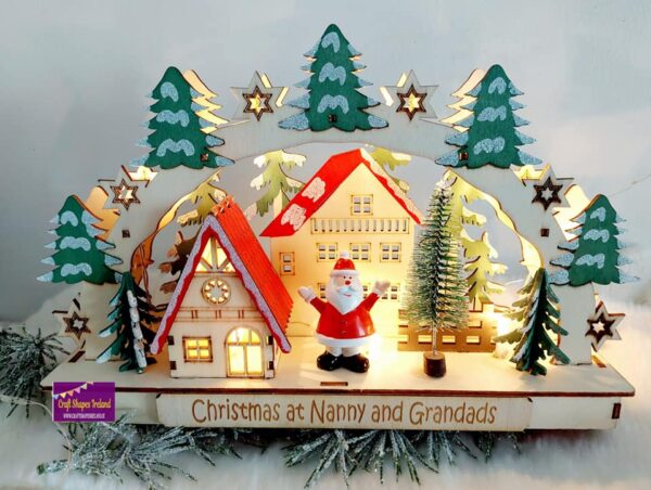 Personalised Light Arch with santa