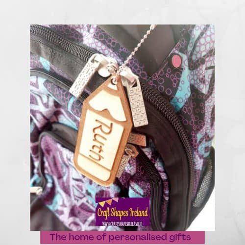 First day at school -Pencil Bag Tag