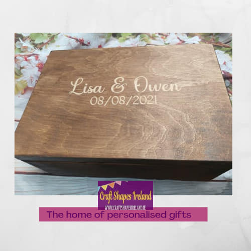 Personalised stained box Engraved