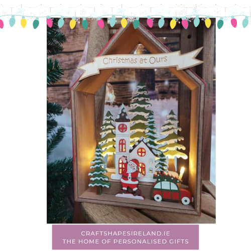 Personalised Lit House with Santa