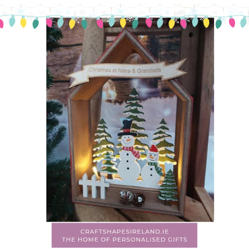 Personalised Lit House with snowman