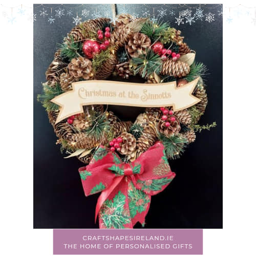 """""""Berry Bright"""" personalised wreath"""