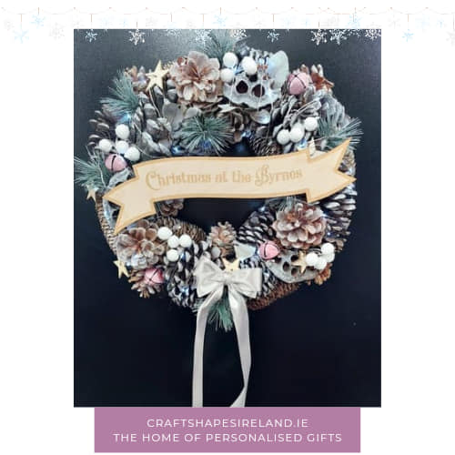 """""""Frosted Mornings"""" personalised wreath"""