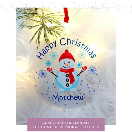 Personalised Happy Christmas - snowman