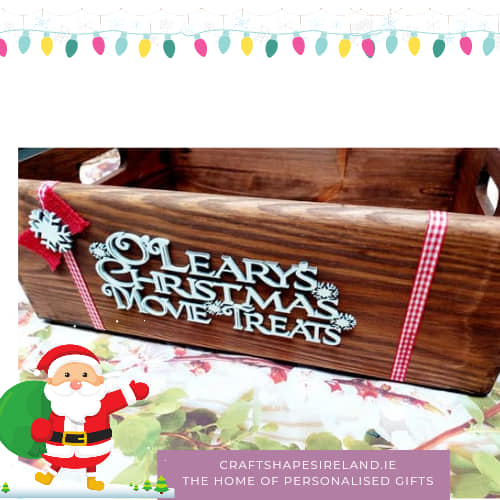 Christmas movie treats box, personalised - Stained Case