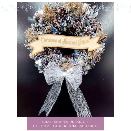 """""""Winters Day"""" personalised wreath"""