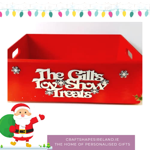 Toy Show Treats box, personalised case colour choice