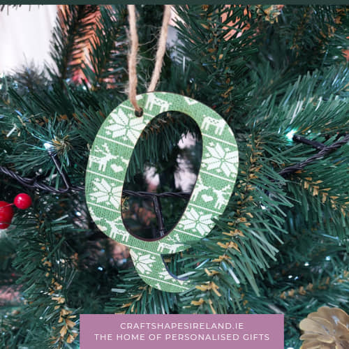 Personalised Nordic Inspired Decorations/Tags Green *eco