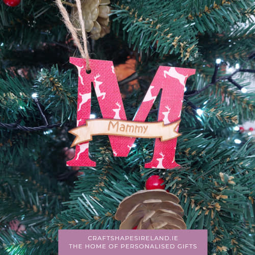 Personalised Nordic Inspired Decorations/Tags Red *eco