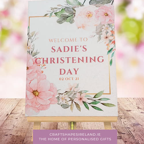 Blush Beauty - Christening Sign - Personalised Welcome