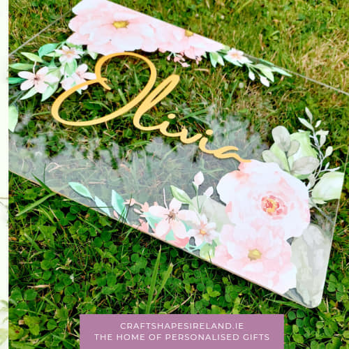 Floral Glory-Acrylic personalised name sign