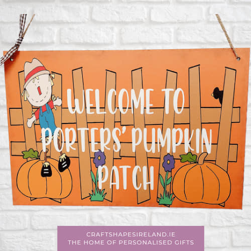 Personalised Pumpkin Patch Autumn sign