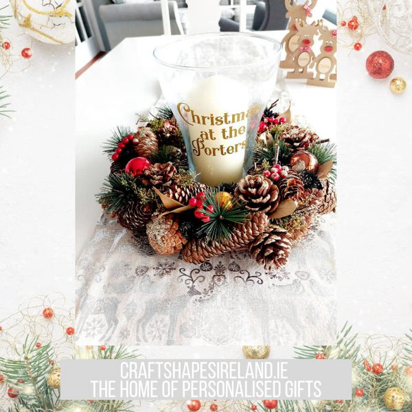 """""""Bauble Bright"""" Personalised Centre piece"""