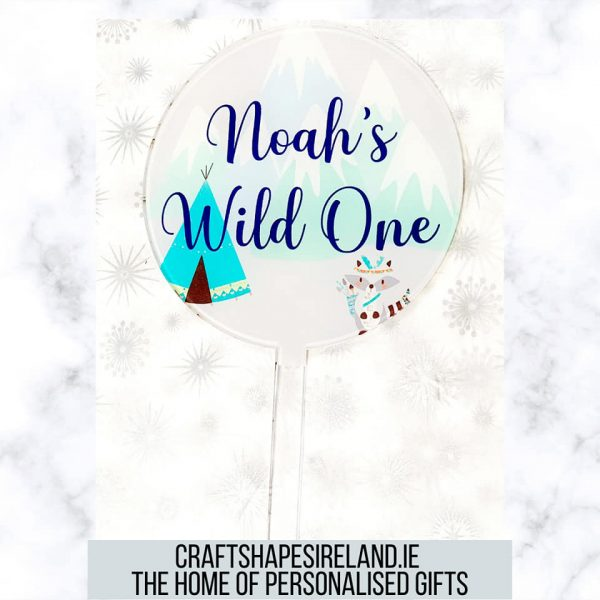 Personalised Wild/Tribe Cake Topper