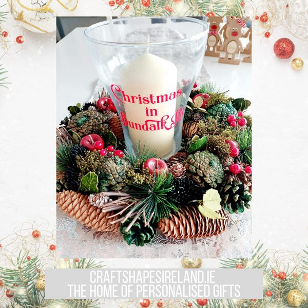 """""""Deck the Halls"""" Personalised Centre piece"""